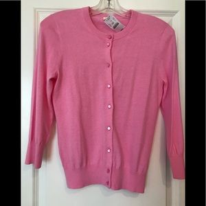 J Crew Factory pink cardigan size small